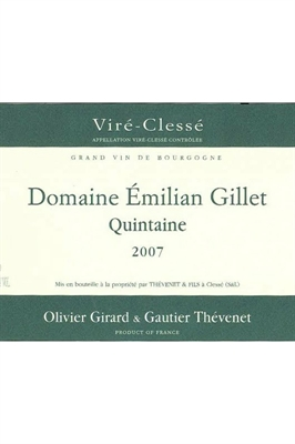 Picture of Thevenet Domaine Emilian Gillet, Quintaine, Vire Clesse 2007